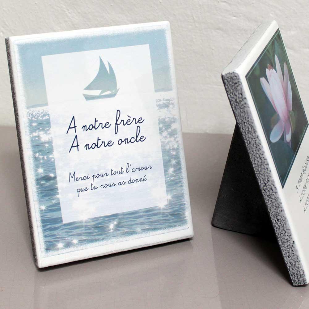 Modele jgabateau plaque fun raire bateau mer personnalisable avec votre texte et vos photos - Plaque funeraire originale ...