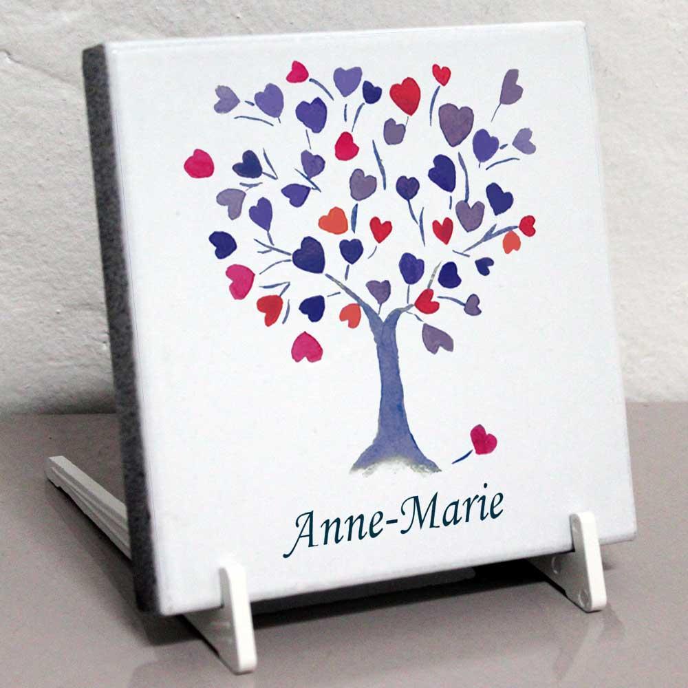 Modele jgdarbrecoeurbleu2 plaque fun raire coeur rose arbre personnalisable avec votre texte et - Plaque funeraire originale ...